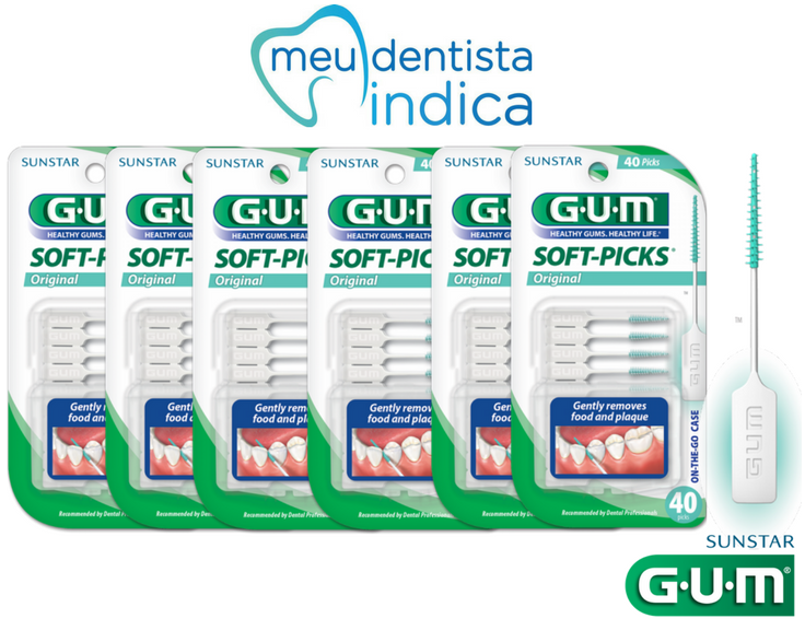 Soft-Picks GUM  -  240 unidades ( 6 Cartelas)