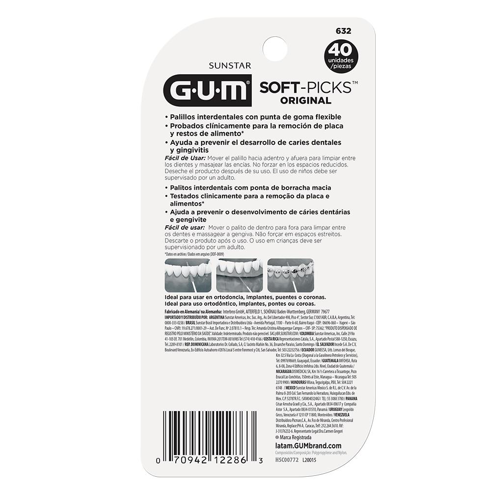 Soft-Picks GUM®   Palito Interdental   40 unidades
