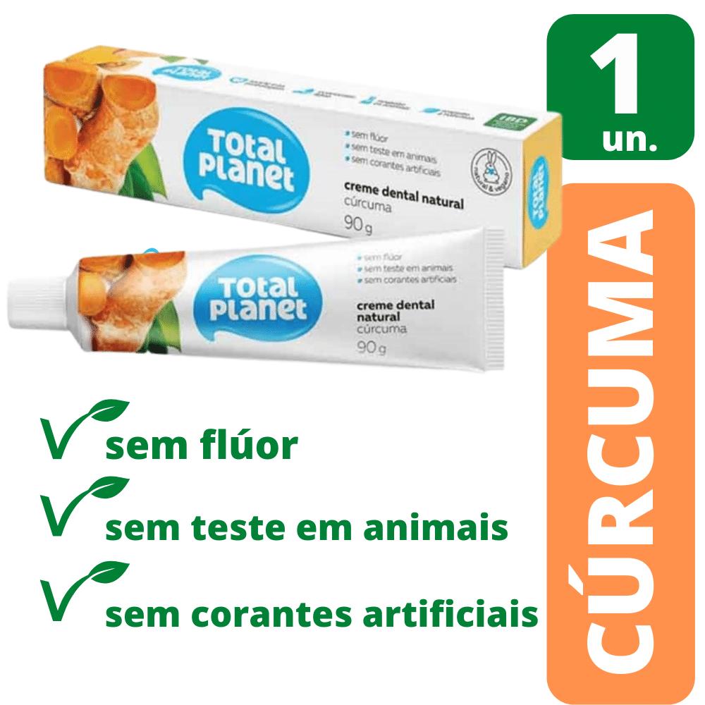 Creme Dental Natural Cúrcuma 90g - Natural & Vegano