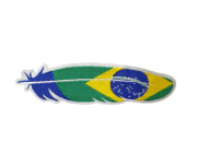 Adesivo para Chapéu Pena Bandeira do Brasil