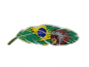 Adesivo para Chapéu Pena Brasil Índio
