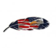 Adesivo para Chapéu Pena USA Águia