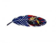 Adesivo para Chapéu Pena USA Índio
