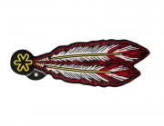 Adesivo para Chapéu Tuff  Pena Vermelha 2259