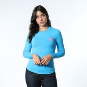 Baby Look Feminina TXC Brand X- Sweat Azul 4483