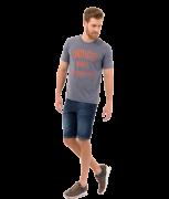 Bermuda Jeans Masculina Larston Slim Wrangler Wm6002
