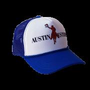 Boné Austin Western Branco Azul