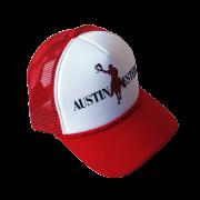 Boné Austin Western Branco-Vermelho