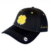 Boné Importado Black Clover Preto Logo Amarelo 55