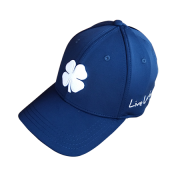 Boné Importado Black Clover Azul Marinho Logo Branco