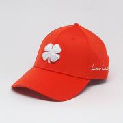 Boné Importado Black Clover Laranja Logo Branco