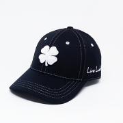 Boné Importado Black Clover Preto Logo Branco