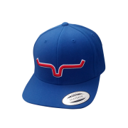 Boné Importado Kimes Ranch Azul  Logo Vermelho