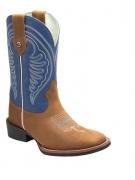 Bota Masculina Texas Rodeo Crazy Mostarda/Azul Bic TR108