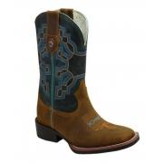Bota MasculinaTexas Boots Mostarda/Fossíl Marinho T104 LQBO