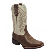 Bota Texas Rodeo Brow/Marfim TR115