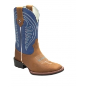Bota Texas Rodeo Crazy Mostarda/Azul Bic TR108