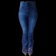 Calça Jeans Feminina Minuty Bordada Max Flare 201847