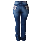 Calça Jeans Feminina Docks Bordada Pietra