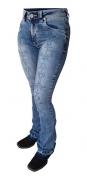 Calça Jeans Feminina Flare Docks Marmorizada