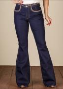 Calça Jeans Feminina Flare Minuty 19418