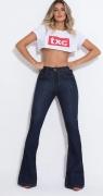 Calça Jeans Feminina Flare TXC Brand XF Black 10963