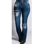 Calça Jeans Feminina Miss Country Amor