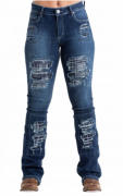 Calça Jeans Feminina West Dust Sarkozi Patch CL25741