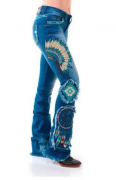 Calça Jeans Feminina Zenz Western Apache