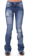 Calça Jeans Feminina Zenz Western Blend