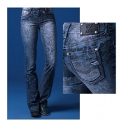 Calça Jeans Feminina Zenz Western Cosmos