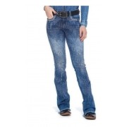Calça Jeans Feminina Zenz Western Midnight