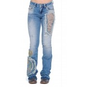 Calça Jeans Feminina Zenz Western Montana