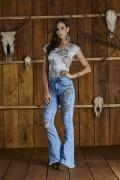 Calça Jeans Max Flare Bordada Minuty Country 20598