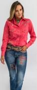 Camisa Feminina Miss Country Agua Marinha