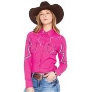 Camisa Feminina Zenz Western Cobalto ZW0320015