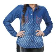 Camisa Jeans Feminina Miss Country Freedom 306