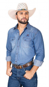 Camisa Masculina Jeans Radade