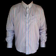 Camisa Masculina King Farm Listrada Azul