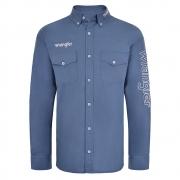 Camisa Masculina Wrangler Azul WM13107M