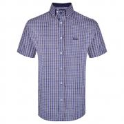 Camisa Masculina Wrangler Xadrez Azul e Laranja WM9923