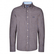 Camisa Masculina Wrangler Xadrez Marrom WM9963