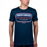 Camiseta Masculina Bf///ms North Carolina Azul 137