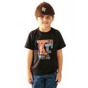 Camiseta Infantil King Farm KF01 Preto