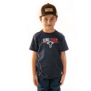 Camiseta Infantil King Farm KF07 Azul Marinho