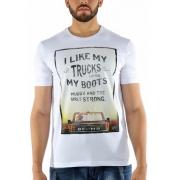 Camiseta Masculina BF///MS Branca CM035  Plus Size