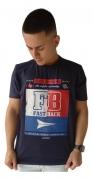 Camiseta Masculina Fast Back 1013 Azul Marinho