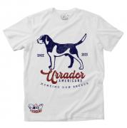 Camiseta Masculina Foxhound Branca Cachorro C05