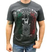 Camiseta Masculina Mexican Hats Snake Flag