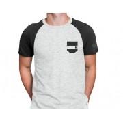 c520edb827 Camiseta Masculina TXC Cinza Claro Com Marrom Escuro